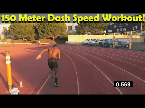 150 Meter Dash Speed Workout For All Athletes: Run Faster!