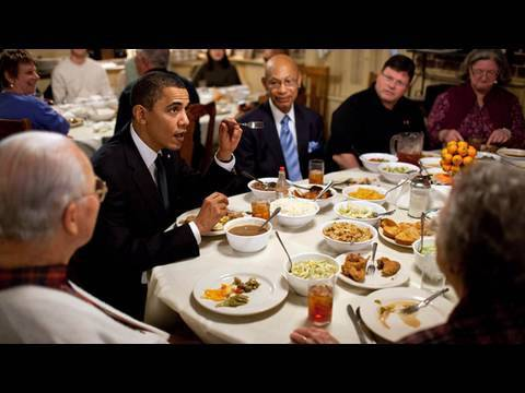 Raw Footage President Obamas Surprise Lunch Stop  YouTube