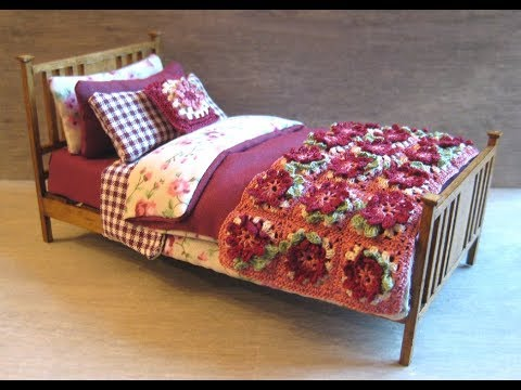 1/12th Scale Single Bed Tutorial - Part Two - Making The Bedding