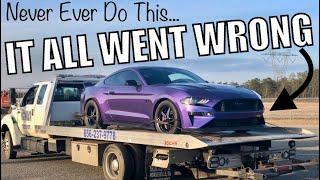 BAD NEWS: I Broke my 2018 Mustang GT Racing! FULL SEND GONE WRONG!