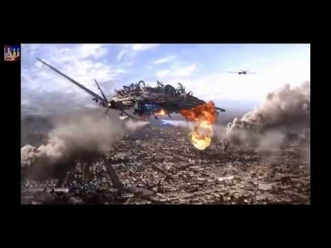Skyline: drone fight and nuke scene