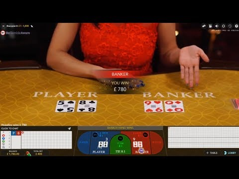 1K Start Live Casino Baccarat Big Bets Sesh