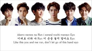 Lyrics EXO-K - RUN [Hangul/Romanization/English] COLOR CODED
