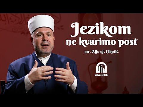 MR. ALJO EF. CIKOTIĆ: JEZIKOM NE KVARIMO POST