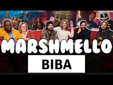 Music Monday! - Marshmello x Pritam - BIBA feat. Shirley Setia & Shah Rukh Khan - Group Reaction