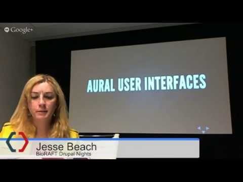 """Jesse Beach: """"The Semantic Application Layer and Accessibility"""" at Drupal Nights by BioRAFT"""