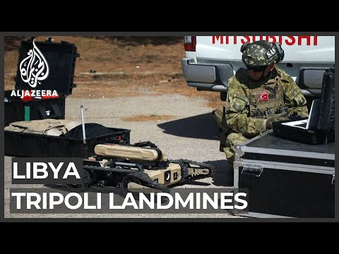 Libya: Turkish troops help clear landmines in Tripoli