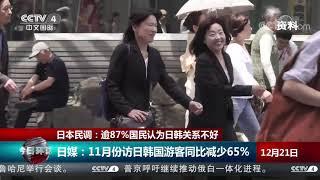 [今日环球]日本民调:逾87%国民认为日韩关系不好| CCTV中文国际