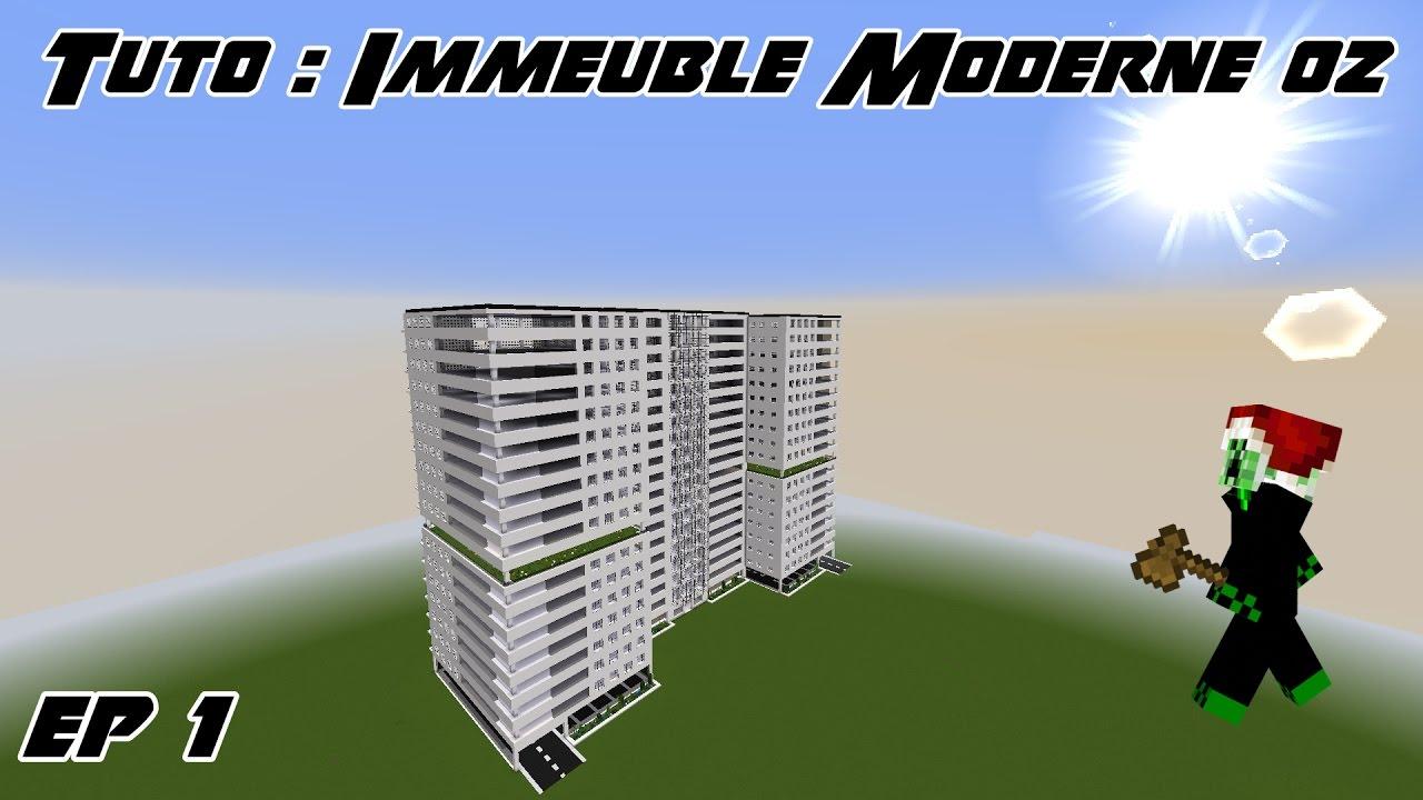 Minecraft Tuto - Immeuble moderne 02 - Ep 1 - YouTube