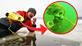 Мы погрузили подводный дрон под лёд и увидели эти жуткие кадры