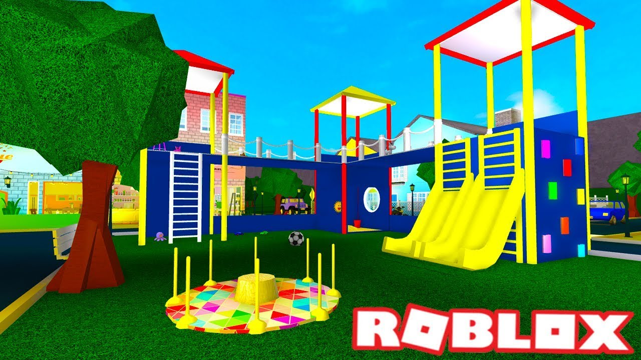 I Made A Playground Bloxburg Build Roblox Youtube