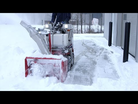 Reduce Sidewalk Labor With The Ventrac SSV Snow Blower – Simple Start