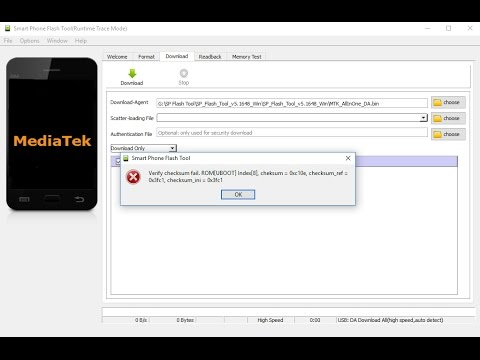 How to fix verify cheksum fail in sp flash tool-Tutorial