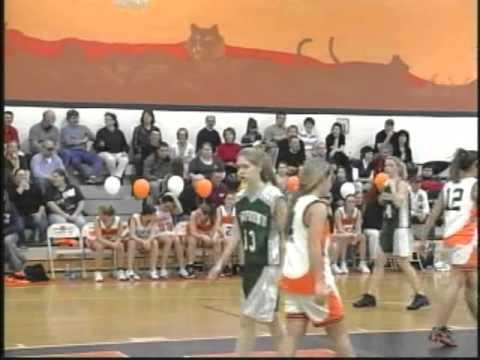 2-18-10 Farmington Varsity Girls Basketball game vs Newfound