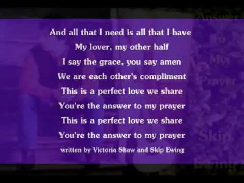 Skip Ewing - Answer To My Prayer ( + lyrics 1997)