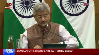 EAM S Jaishankar addresses media on 100 days of government