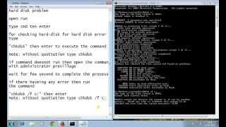 How to repaire hard disk error, bad sector and troubleshooting hard disk in Hindi and English