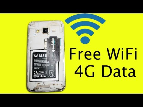 Get Free 4G Internet Data WiFi Without Sim Card On Mobile Device Using Steel Blade