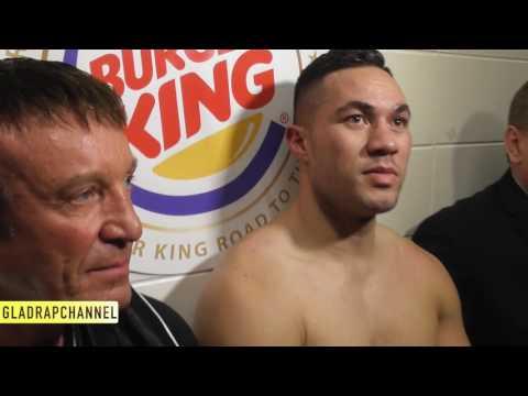 Post Fight with Joseph Parker after 3rd round KO of Alexander Dimirtenko