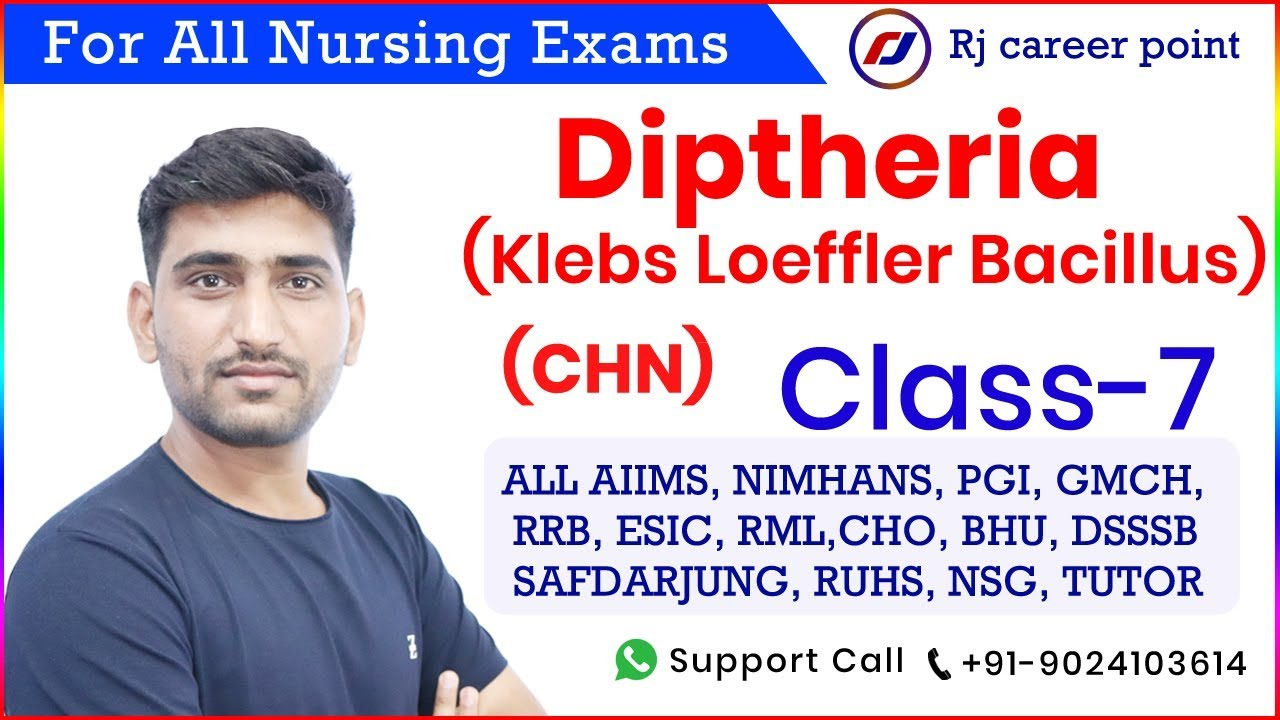Diptheria Communicable Disease | CHO spacial Classes|Nursing Officer & Staff Nurse |Online Classes