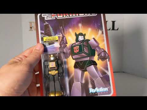 Transformers ReAction GOLD ARMOR BUMBLEBEE Action Figure Review by Rodimusbill