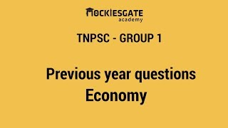 Previous year questions  | Economy | TNPSC Group 1 | Group 2 | TNPSC online coasching classes