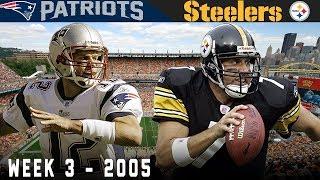 Brady & Big Ben Clutch Duel! (Patriots vs. Steelers, 2005) | NFL Vault Highlights