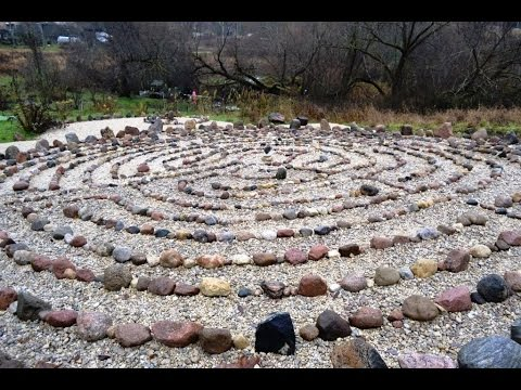 Stone labyrinth - Otepaa Estonia.