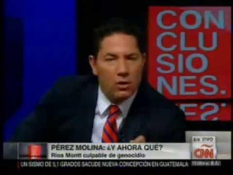 Fernando del Rincón de CNN entrevista a Otto Perez Molina sobre el caso Ríos Montt 10/10/2013