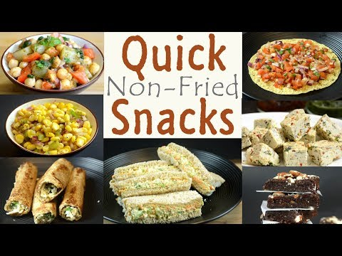 Quick and Healthy Snacks | Non Fried Snack Recipes