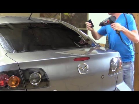 Pre Cut Tint Kit--Shrinking and Installing Back Window--Any Car or SUV