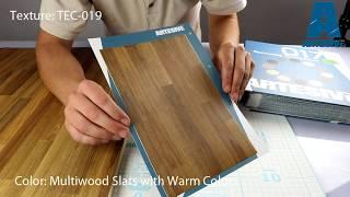Artesive TEC-019 Multiwood Fire - Texture Model of Self-adhesive Film