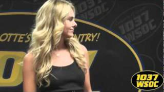 "103.7 WSOC: Laura Bell Bundy sings ""Drop On By"""