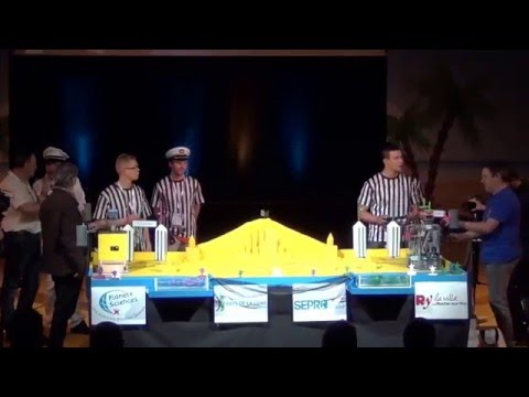2016 - Space crackers 145 vs 61 Les Cools Boys - Coupe de France Robotique 2016