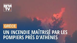 En Grèce, un important incendie aux portes d'Athènes maîtrisé par les pompiers