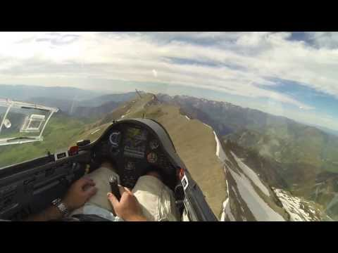 High Speed Glider Flight From Provo Peak To Timpanogos