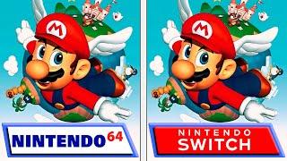 Super Mario 64 | Swİtch VS Nintendo 64 | Graphics & FPS Comparison