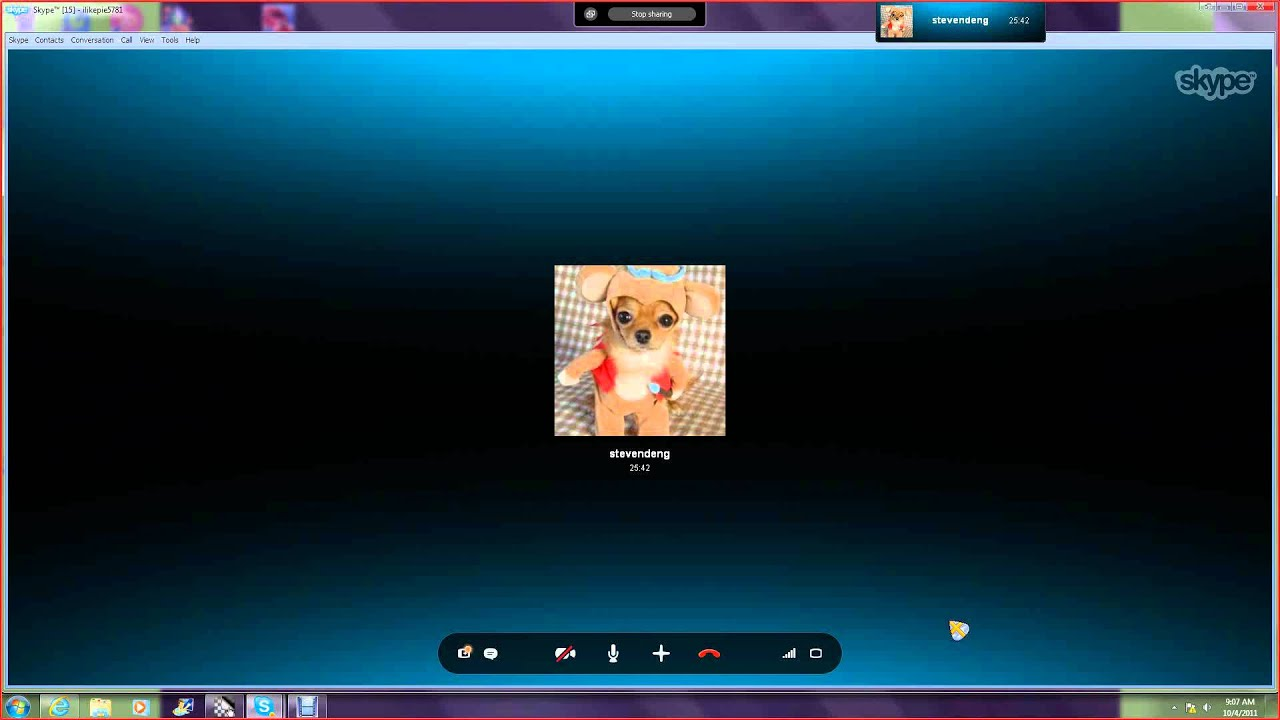 a bit of a problem wit skype when both screen share
