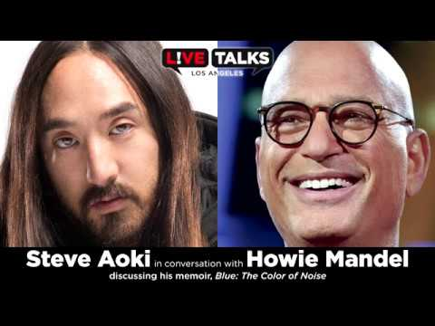Steve Aoki in conversation with Howie Mandel at Live Talks Los Angeles