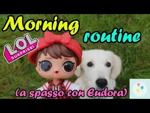 La MORNING ROUTINE di LOL BABE IN THE WOODS a spasso con la cagnolina! | Scarta Regali