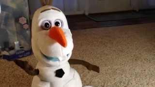 new ULTIMATE OLAF toy review Disney's Frozen walk & talk Olaf