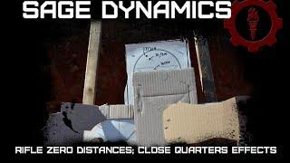 Rifle Zero Distances; Close Quarters Effects