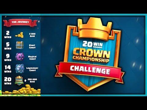20 WIN CCGS CHALLENGE! HARDEST Challenge EVER!   Clash Royale