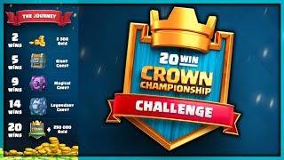 20 WIN CCGS CHALLENGE! HARDEST Challenge EVER! | Clash Royale