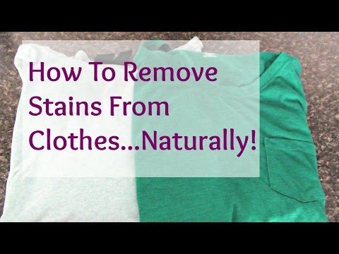 Remove stains with vinegar baking soda doovi for How to remove ink stain from cotton shirt