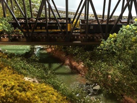 Model Railroad Scenery: How to model a creek or stream.