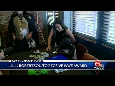 Saints superfan JJ Robertson to receive WWE award