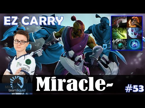 Miracle - Anti-Mage Safelane | EZ CARRY 7.11 Update Patch | Dota 2 Pro MMR Gameplay #53