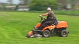 Tak się kosi trawę w Oleszkach ;-) koszenie trawnika traktorkiem kosiarką Oleszki