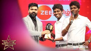 Atlee winning MASS DIRECTOR OF THE YEAR | Galatta Nakshatra Awards